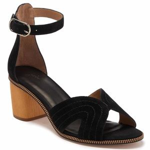 Joie Mabley Suede Ankle Strap Sandals